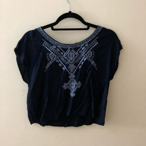 Light blue and dark blue crop top from forever 21